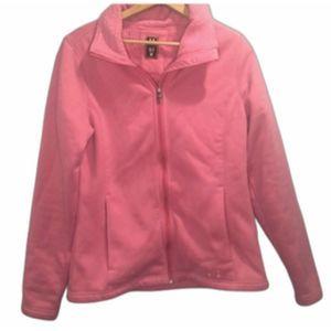 Under Armour pink full zip sweatshirt UA storm